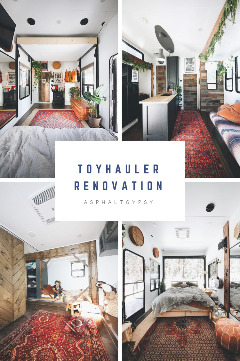 Toyhauler Renovation- A look inside Autumn Bailey's toyhauler remodel
